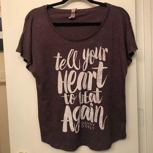 Size s soft purple tee Christian song lyrics